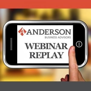Anderson Advisors Webinar Replay